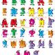 Русский алфавит на прозрачном фоне