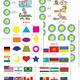 Плакаты для детского сада - Флаги, Время, Режим дня, Формы
