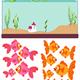 Дидактический материал для занятий с детьми - Рыбки в аквари...