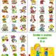 33 Картинки - наклейки на шкафчики и кроватки в детский сад