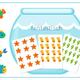 Раздаточный материал для дошкольника Рыбки и аквариум 2