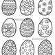 Пасхальные яйца. Раскраска для детей