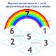 Математическая игра для детей Радуга и облака