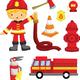 Клипарт Пожарный, пожарная безопасность 3
