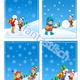 Фоны-шаблоны для оформления групп в детском саду Зимние
