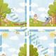 Детские фоны - шаблоны для оформления стендов и папок-передв...