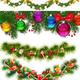 Новогодние еловые ветки и гирлянды для оформления работ