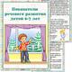 Папка передвижка - Показатели речевого развития детей 6-7 ле...