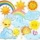 Клипарт на прозрачном фоне для оформления стендов - Солнце, ...