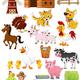 Знакомство детей с окружающим миром. Ферма, домашние животны...
