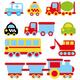 Детский клипарт для оформления уголков и стендов - Транспорт