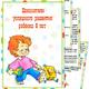 Папка передвижка для детского сада - Показатели успешного ра...