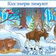 Плакат на тему Как звери зимуют