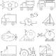 Изучаем геометрические фигуры и формы. Раскраски Транспорт