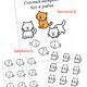 Раздаточный материал для дошкольников Кот и рыбки