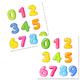 Клипарт на прозрачном фоне - Разноцветные цифры
