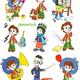 Оформление детского сада - Отрисовки Незнайка и его друзья