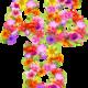 Цветочный Алфавит Цифры и Знаки