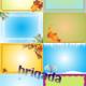 Горизонтальные фоны-шаблоны Осень Зима