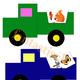 Игра для детей - Разноцветные грузовики