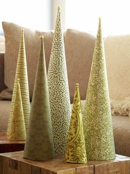 елка из бумаги на Новый год
