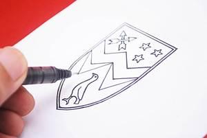 как нарисовать семейный герб для школы