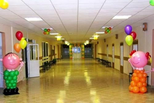 праздник 1 сентября день знаний, оформление коридора школы