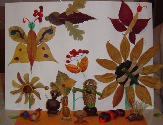 поделка на тему осень