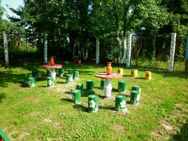 поделки на участок детского сада видео, поделки на участок в детский сад фото