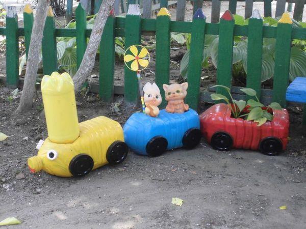 поделки на участок в детский сад, поделки для участка в детском саду