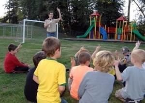 школьный лагерь знакомства с детьми