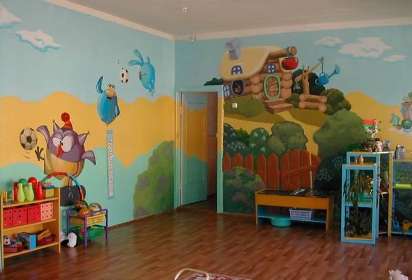 декоративное оформление стен в детском саду своими руками