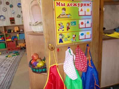 уголок дежурного в детском саду