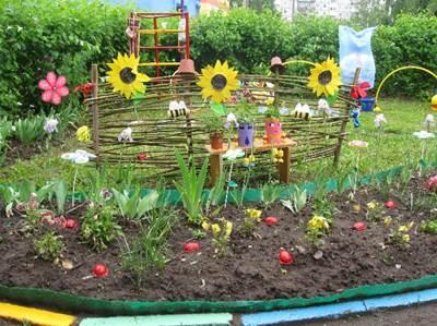 украшение участка детского сада своими руками