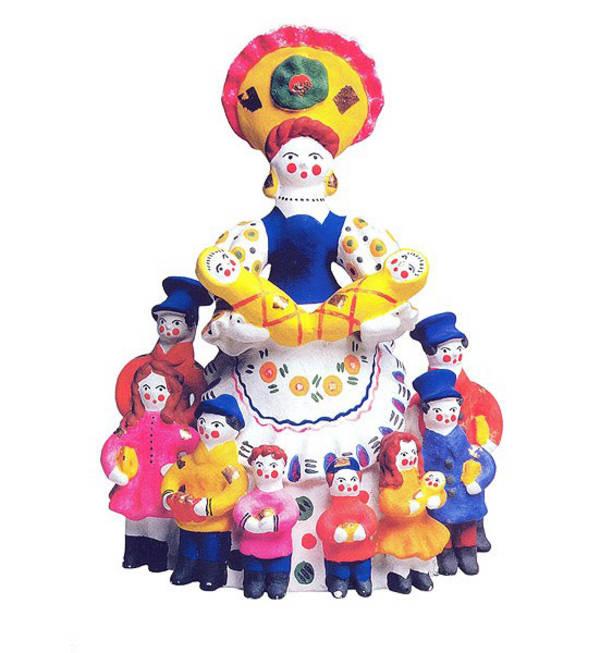 дымковская роспись в детском саду