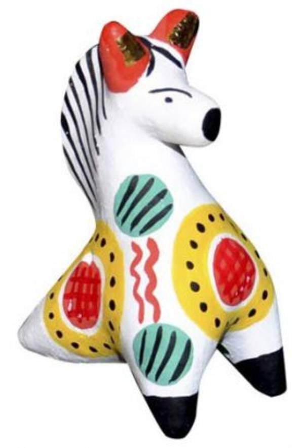 дымковская игрушка лошадка