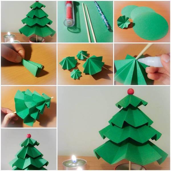 оригами ёлочка своими руками