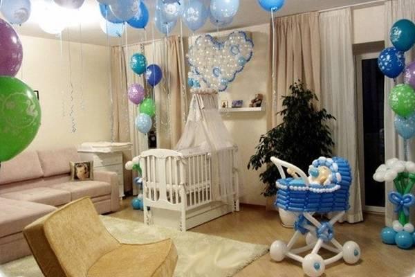 Как украсить к выписке новорожденного