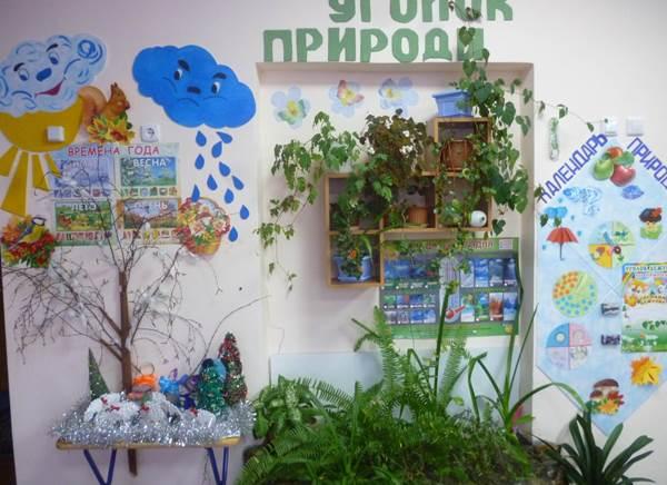 экологический уголок в детском саду