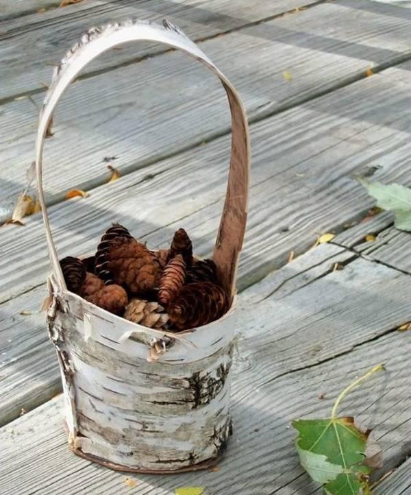 поделки на праздник осени из бересты