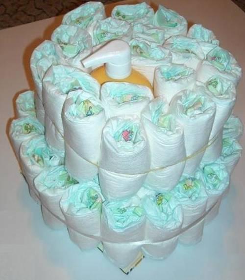 Как делать торт из подгузников своими руками фото 808