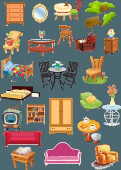 Обозначения клипарт мебель