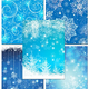 Зимние шаблоны со снежинками и узорами