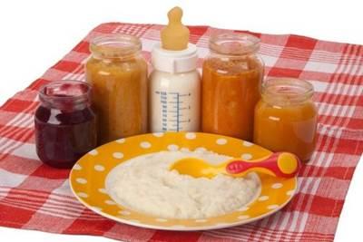 подкармливание ребенка с 4 месяцев, прикорм ребенка с 4 месяцев, детское питание с 4 месяцев