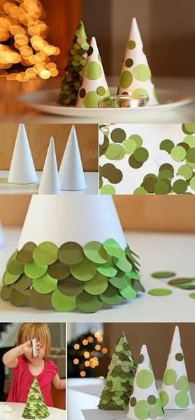 elochka_6 Поделка елочка своими руками - как сделать елку из бумаги, ниток, лент