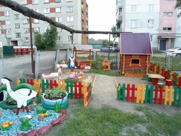 оформление участка в детском саду фото